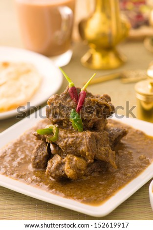 mutton curry korma , indian food - stock photo