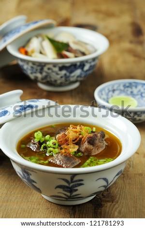 Mutton soup, or soup kambing - stock photo