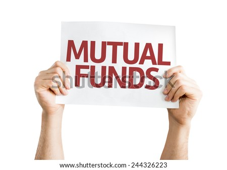 Mutual Funds card isolated on white background - stock photo