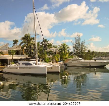 my house my yacht my dream - stock photo