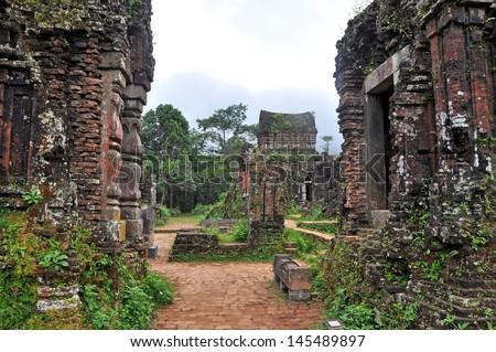My Son temple ruins, Vietnam  - stock photo