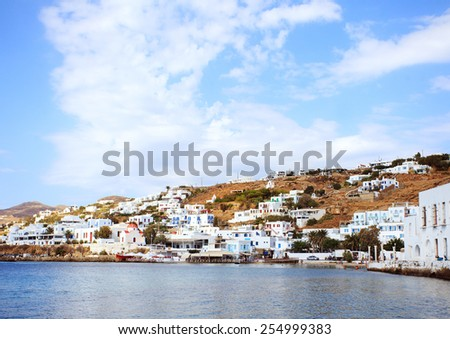 Mykonos city, Greece - stock photo