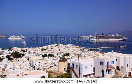 Mykonos, greek island - stock photo