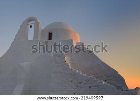 Mykonos paraportiani church - stock photo