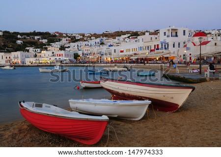 Mykonos Port - stock photo