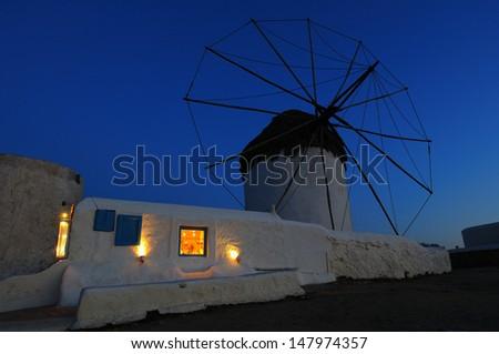 Mykonos Windmill - stock photo