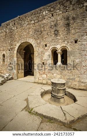 Myra, St Nicholas Church - ancient city's temple of the altar. Antalya. Turkey - stock photo