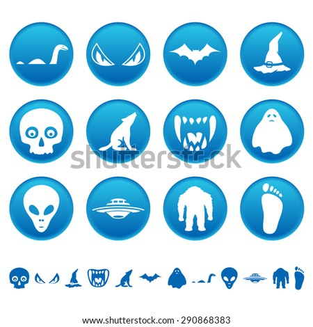 Mysterious icons - stock photo
