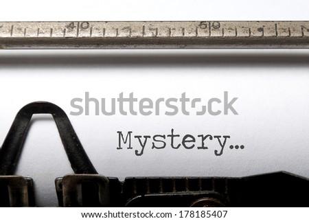 Mystery  - stock photo