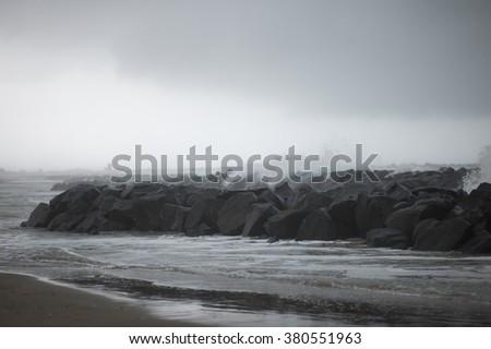 Mystery sea - stock photo