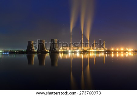 Mystic coal power station - stock photo