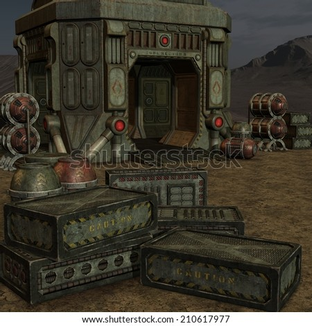 Mystic Sci-Fi Background - stock photo