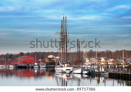 Mystic Seaport - stock photo