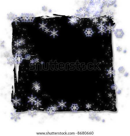 Mystical stars and snowflakes - stock photo