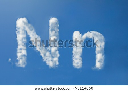 n font clouds - stock photo