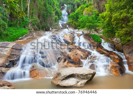 Na Muang 2 waterfall, Koh Samui, Thailand - stock photo