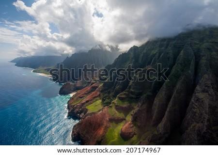 Na Pali Coast - stock photo