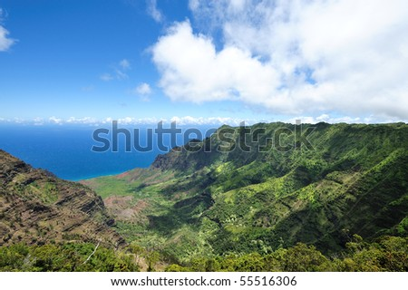 Na Pali Coast State Park - stock photo
