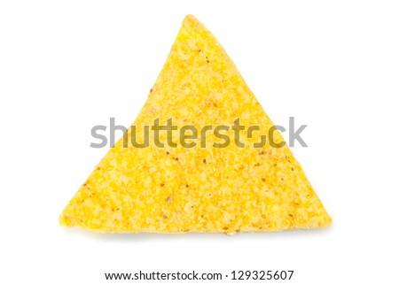 nacho chips macro - stock photo