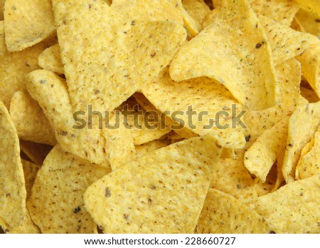 Nacho corn chips, suitable as background - stock photo