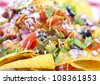 Nachos background - stock photo