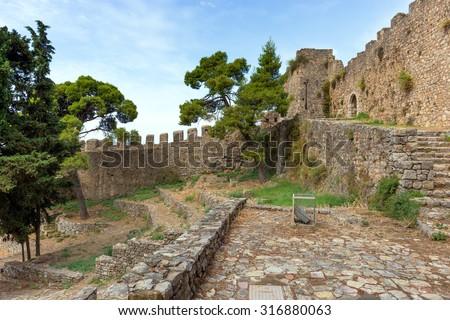 Nafpaktos castle, Greece - stock photo