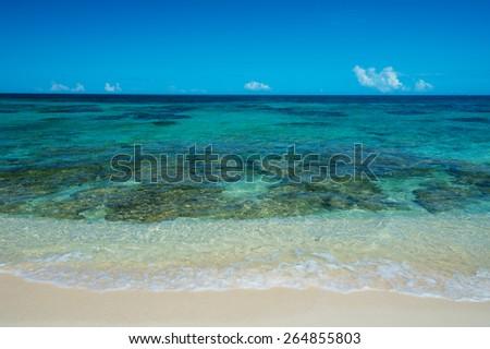 NAGAMAHAMA Beach, Okinawa  - stock photo