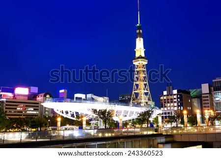 Nagoya, Japan skyline at Nagoya Tower. - stock photo