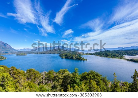 Nahuel Huapi lake, Bariloche (Argentina)  - stock photo