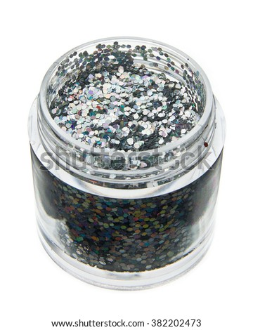 Nail glitter various colors - stock photo