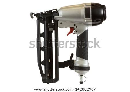 Nail gun isolated on a white background. - stock photo
