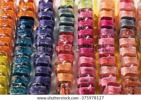 Nail polish bottles - stock photo