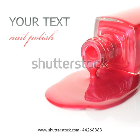 Nail Polish closeup - stock photo