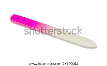 Nailfile isolated on white with clipping path - stock photo
