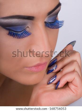 Nails and make up - stock photo