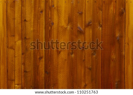 Nails in wooden seamless continuous fence - stock photo