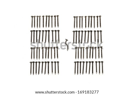 Nails on a white background - stock photo