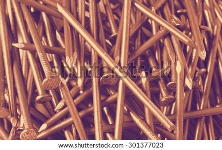 nails retro - stock photo