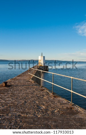 Nairn Pier and Harbour, Scotland - stock photo