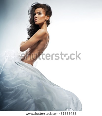 Naked bride - stock photo