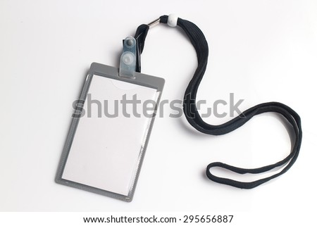 Name Tag on white background - stock photo