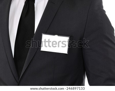 Name tag. Space for your message. - stock photo