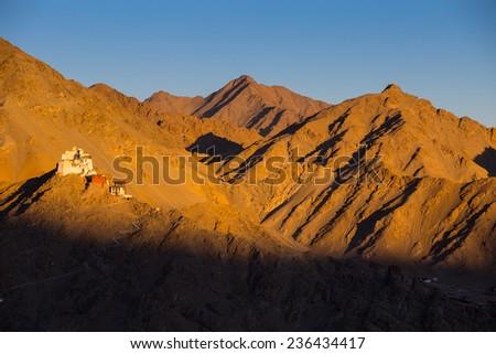 Namgyal Tsemo Monastery,Leh Ladakh - stock photo