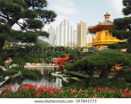 Nan Lian Garden, Hong Kong - stock photo