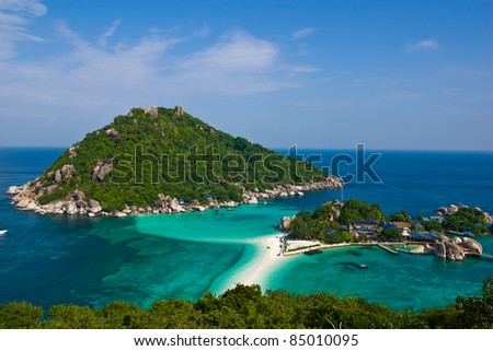 nang yuan island at south of Thailand - stock photo