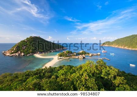 Nang Yuan island (Koh Nang Yuan) viewpoint, Thailand - stock photo