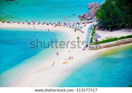 Nang Yuan Island, Thailand - stock photo