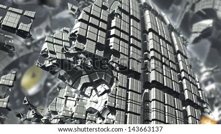 Nano techno - stock photo