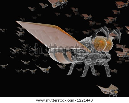 nanotechnology tiny robots - stock photo