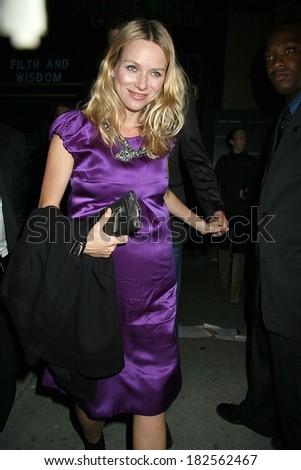 Naomi Watts at Part 2 - FILTH AND WISDOM Screening, Landmark Sunshine Cinema, New York, NY, October 13, 2008 - stock photo